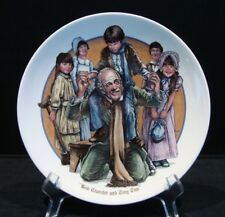 Vintage Wedgwood Charles Dickens Collector Plate Bob Cratchit & Tiny Tim
