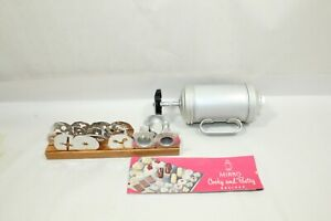 Vintage Mirro Cooky Cookie & Pastry Press No 358 AM Aluminum + Recipe Booklet