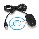 USB PC Wireless Gaming Receiver Adapter Controller for Microsoft XBOX 360 W/CD