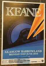 Keane -  Very Rare Concert / gig poster, Glasgow, June 2010