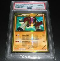 PSA 10 GEM MINT Terrakion 151/149 SECRET HOLO RARE Pokemon Card