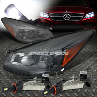 SMOKED HOUSING AMBER SIDE HEADLIGHT+6000K HID LED PAIR FOR 13-16 FORD ESCAPE