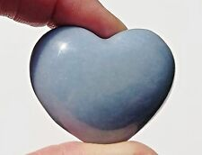 A Grade Angelite Crystal Puff Heart - 40mm - One off deal at this price!