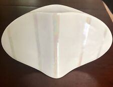 Vintage Naomi Cahana Vase Signed Cream W/Pearlized Stripes Original HTF Rare