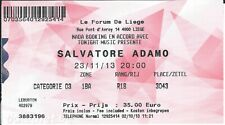 Ticket Concert: Salvatore Adamo (23/11/2013) Le Forum Liège