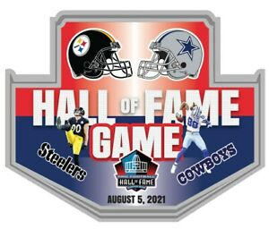 NFL FOOTBALL HALL OF FAME GAME PIN DALLAS COWBOYS PITTSBURGH STEELERS SUPER BOWL