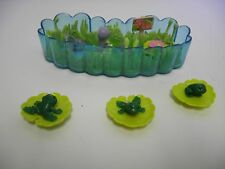 Vintage Kenner Littlest Pet Shop Jump 'n Splash Frogs w Lily Pond Set