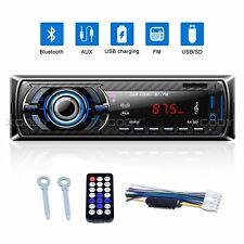 AUTORADIO BLUETOOTH STEREO FREISPRECH FM USB SD AUX MP3 PLAYER 4x60W 1DIN Auto