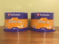 (2) Verbatim 4.7 GB up to 16x Branded Recordable Disc AZO DVD-R 50-Disc Spindle