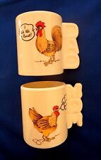 DAD RULES THE ROOST * MOM RULES THE ROOSTER * MUG SET * NEW