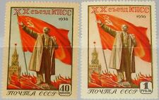 Russia Unión Soviética 1956 1805-06 1797-98 20th Congress Communist Party Lenin mnh