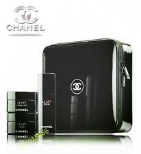 Free Shipping - Chanel Large Black Hard Case Square Makeup Cosmetic Travel Bag