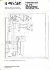 Becker Original Service Schaltplan für CD 940 Fernbedienteil