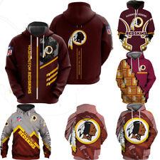 Washington Redskins Hoodie Football Hooded Sweatshirt Pullover Casual Jacket