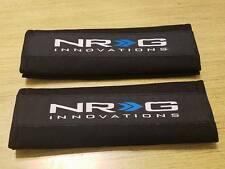 2X UNIVERSAL BLACK NRG SEAT BELT HARNESS SHOULDER PADS COVER PAIR CAR TRUCK SUV