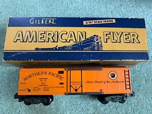 American Flyer #947 N.P. Northern Pacific reefer/boxcar LN w/box knuckle 1950s