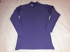 Mens Under Armour Long Sleeve Compression Mock Neck Blue Xl