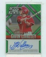 GAVIN LAVELLEY 2014 Panini Prizm Perennial Draft Picks Green Rookie Auto #D /35
