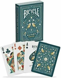 Bicycle Playing Cards AVIARY Deck Custom Illustrated Face & Suit Vintage Floral