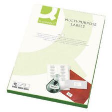 More details for q-connect white multi-purpose label 199.6x143.5mm 2 per a4 sheet (pack of 100)