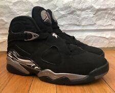 ef8e0e468b7860 Air Jordan 8 VIII Retro Chrome Black White Graphite 305381-003 US Men Size 9