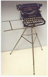 RARE Antique Corona 3 Typewriter Co Folding Tripod Stand Groton NY Patented 1916