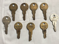Lot Of 9 Vintage Keys By Chicago Lock Co. USA (K15) Chicago Illinois (rare)