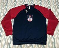 Adidas Men's USA Volleyball Henley Sweatshirt Long Sleeve Tech Fleece Size L/XL