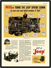 Willys Jeep Go Devil Motores Calidad Letrero Metal
