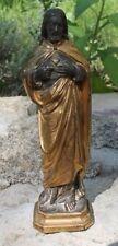 joli christ en régule doré objet de dévotion religieux jésus