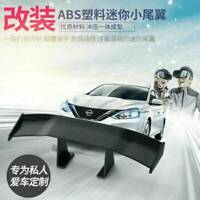 Mini Car Small NO Perforation Tail Wing Spoiler Decoration Stickers Universal AK