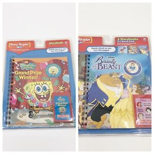 Bundle Of NEW Story Reader Disney Sponge Bob Storybooks Cartridges SEALED PI Kid