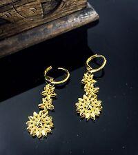 Chapado en Oro Joyería Pendientes Aros tachas Indio Asiático Boda Moda Diseñador