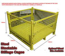 01 - STILLAGES - STEEL PALLET CAGES - STACKABLE - 1 CAGE FOR $550-