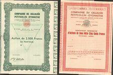 2 titres: Compagnie du CELLULOÏD PETITCOLLIN-OYONNITHE, Poupées (N)
