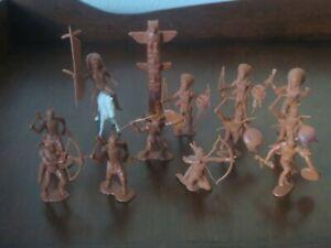 Vintage Fort Apache Marx Playset Indian Matched Butterscotch Figures