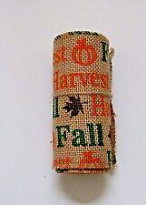 Burlap Ribbon Halloween Fall Pumpkins Jute Mesh Natural Beige 5.5 in. x 10 ft.