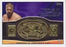 2015 Topps WWE Championship Belt Plate Triple H near mint