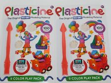 Plasticine 9 Color Play Pack TWO PACKS No Dry Modeling Material W/ Instructions