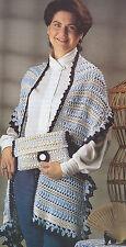 Crochet Pattern ~ BEAUTIFUL LADIES SHAWL & PURSE ~ Instructions