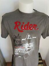 superbe tee-shirt rider ski chamonix mont-blanc taille L