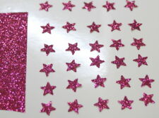 30 étoiles 1cm Flex thermocollant GLITTER ROSE VIF HOT PINK  hotfix