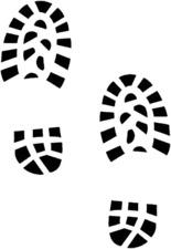 Boot print Footprint Shoe print Shoes Feet Stand Here Vinyl Decal Floor Sticker