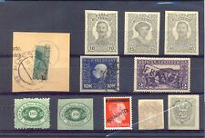 AUSTRIA ETC 11 ST. UNSORTED - INCL PROOFS / BACK OF BOOK --F/VF