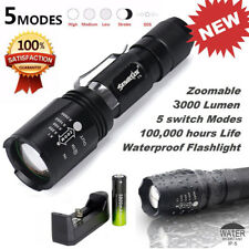 3000 Lumen Rechargeable XM-L T6 LED Flashlight With Battery + Charger