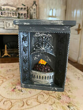 Vintage Miniature Dollhouse Sculpted England Plaster Antique Style Old Fireplace