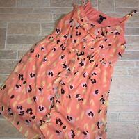 Lane Bryant 22 / 24 Orange Yellow Abstract Floral Dress Plus Size