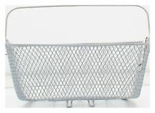 Fischer Bicycle Basket Bike Rear, closed-meshed, Stable, Silver, E-Bike Geeigne