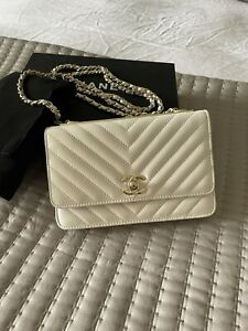 Chanel Nude Crossbody Camera Bag with tags and box authentic. Wallet on chain