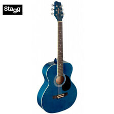 NEW Stagg SA20A-BLUE Full Size Auditorium Acoustic Guitar - Blue Finish